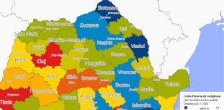 Așa arată harta puterii de cumpărare a românilor pe județe!